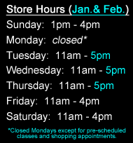 Winter Shopping Hours